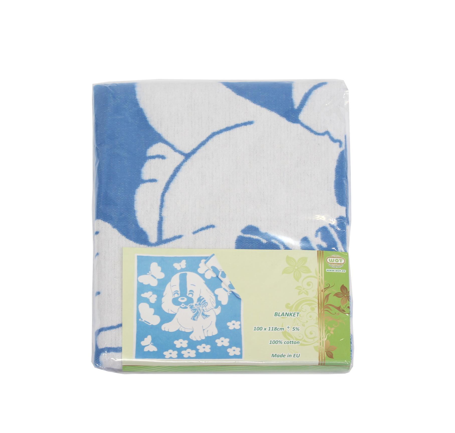 Eesti Tekstiil Cotton Blanket, Blue - Eesti Tekstiil