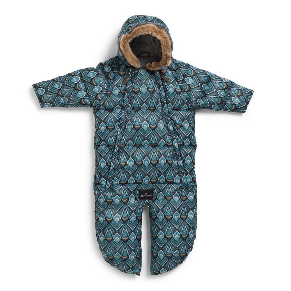 Baby Overall - Everest Feathers 6-12m Black/Green/Petrol 6-12M - Elodie Details