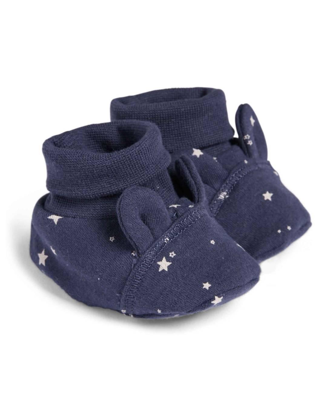 Mamas&Papas STAR BOOTEES NB Blue Newborn - Mamas&Papas
