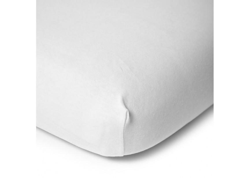 Childhome Fitted Sheet Cot 60x120cm BIO Organic White - Childhome