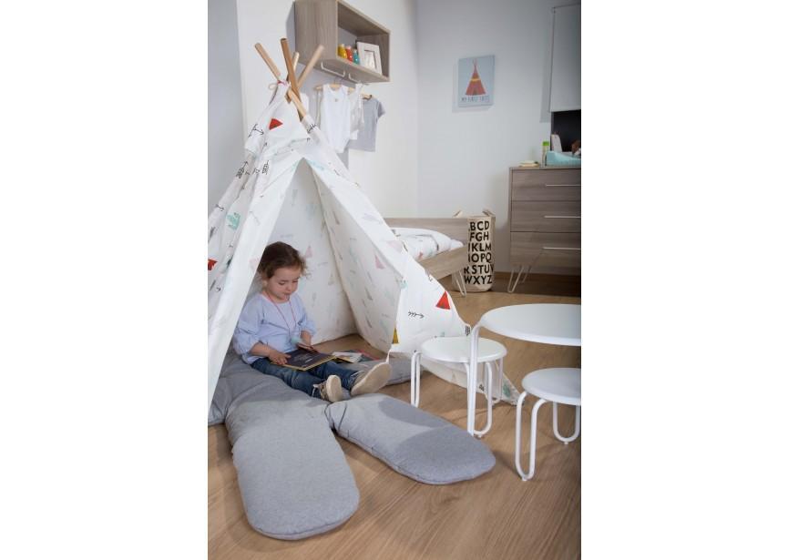 Childhome Teddy Playmat Big 150cm Jersey Grey - Childhome